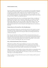 Cover Letter Medical Assistant Resume Objective Samples Medical
