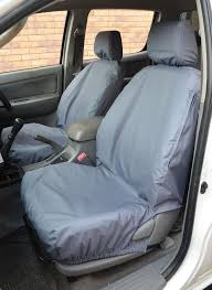 grey tailored waterproof front rear seat covers for toyota hilux 2002 2005 5060468114027