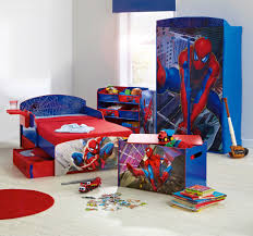 Kids Bedroom Design Boys Boys Room Spiderman Theme Bed And Cupboard Boys Bedroom Design