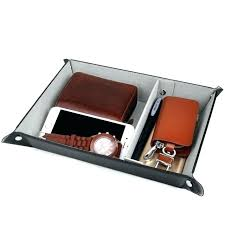 mens leather valet tray dresser organizer nightstand organizer dresser top organizers for men valet tray for