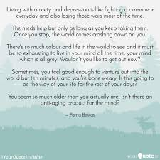 Living With Anxiety And D Quotes Writings By Parna Biswas