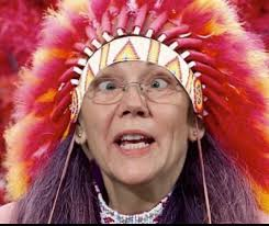 Image result for elizabeth warren headdress pics