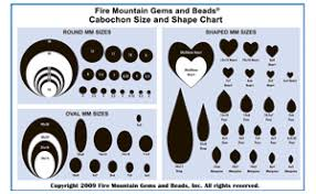 Cabochon Size Chart Cabochon Size And Shape Chart Download Pdf Then Print For