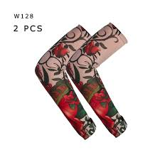 Men Women Tattoo Sleeve Arm Leg Sun Proof Cool Elastic Seamless Art Sleevelet Cycling Outdoor Sports