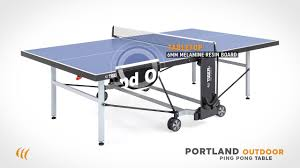 portland outdoor ping pong table by tiger pingpong