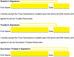 Print Name Free Revocable Living Trust Forms Pdf Word Eforms Free