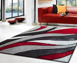 luxton red grey area rug jpg
