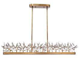 crystal garden 10 light linear chandelier