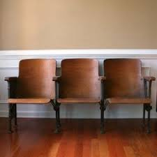 vintage wooden furniture. vintage movie theater chairs for mud room wooden furniture