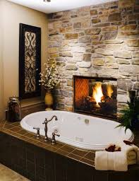 Bathtub With Fireplace Designs