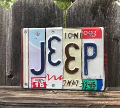 license plate art fathers day gift jeep jeep sign jeep life custom signs jeeping jeep gift gift for him gift for her gift for dad by