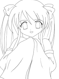 Small Picture Kawaii Anime Coloring PicturesAnimePrintable Coloring Pages Free