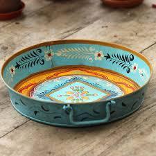 Decorative Metal Tray Decorative Metal Tray By Ibbi Direct Ltd Notonthehighstreetcom