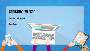 Sanitation Worker Job Description Sanitation Worker Acts Retirement Life Communities Ambler