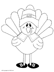 Small Picture Thanksgiving coloring pages for kids