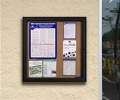 Weather Resistant Notice Boards Black Frame W Lock Inspiration Exterior Bulletin Boards Model Collection