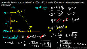 physics a projectile practice problem