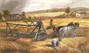 Освоение и развитие Запада США в середине xix века Новая история  Неизвестный художник Жатвенная машина Мак Кормика