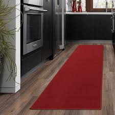 ottomanson ottohome collection carpet solid hallway wedding aisle runner rug with non slip rubber backing red 2 7 x 12 0 ottomanson