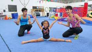 learning gymnastics with our favorite