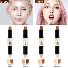 3d face 2 in1 double use 4 colros contour stick highlighter stick contouring bronzer cream makeup