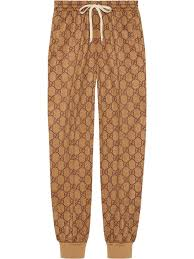 Womens Designer Tracksuit Bottoms Gucci Gg Technical Jersey Track Bottoms Neutrals In 2019