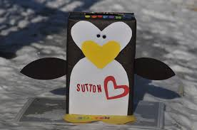 How To Decorate A Valentine Box Penguin Craft Valentine's Day box mommyapolis 76