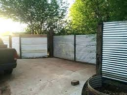 corrugated metal fence cost to build unbelievable privacy