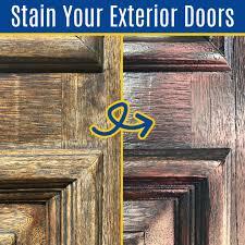 best way to stain exterior wood door