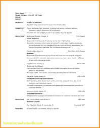 Flight Attendant Sample Resume No Prior Experience Best Lovely
