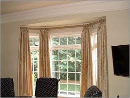 curtain ideas for curtain rods waverly curtains in living room regarding modern bay window double curtain rod
