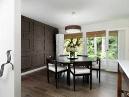Accent wall panel dining room contemporary with geometric surface brown wall