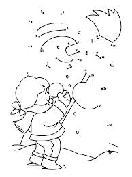 Kleurplaten Paradijs Kleurplaat Een Sneeuwpop Maken
