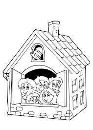 Kleurplaat Spookhuis Kleurplaat Huis Kersthuis Spookhuis En Huizen