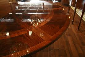 Round Dining Table For 6 With Leaf Perimeter Table Round Dining Table With Perimeter Leaves