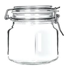 glass cookie jar with lid oz glass jar clamp lid large opening rubber seal classic countertop glass cookie jars with metal lids