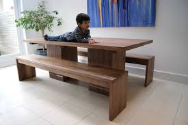 Walnut Dining Table Benches Mijmoj Dining Table With Benches