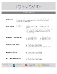 internship resume sample download word template internship resume templates