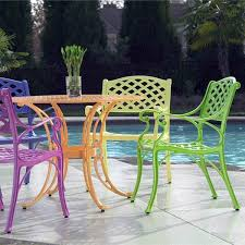 comfortable patio chairs aluminum chair: cross weave patio bistro set bright patio furniture that is perfect for summer