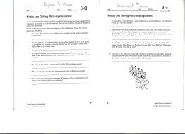 writing and solving multi step equations 3 8