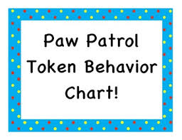 Paw Patrol Token Behavior Chart