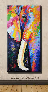 colorful elephant painting inspirational 40 x 80 cm colorful elephant paintings on canvas wall decor image