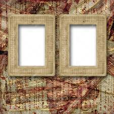 old wooden frames for photo on the abstract paper background stock photo