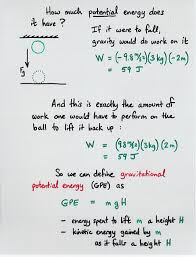 gravitational potential energy and conservation of