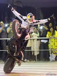 upcoming motocross nd stunt sensation in lahore general a no hands wheelie rolling stoppie tank and handlebar wheelies are just few of the tricks in the vast arsenal of tricks