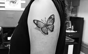3d Design Tattoo Of Butterfly Butterfly Desi Aatman Tattoos