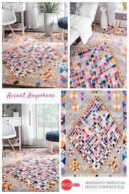 rugsusa marrakech moroccan mosaic diamonds rug 600 900