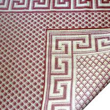 greek key rug burdy cream geometric indoor outdoor area green greek key rug
