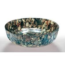 pebble glass bowl vessel bathroom sink glass bathroom sink bowls