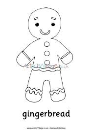 Gingerbread Man Color Pages Gingerbread Man Coloring Pages